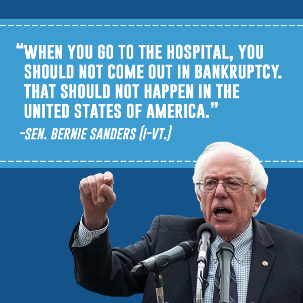 Hospitals And Bankruptcy Bernie Sanders Know Your Meme