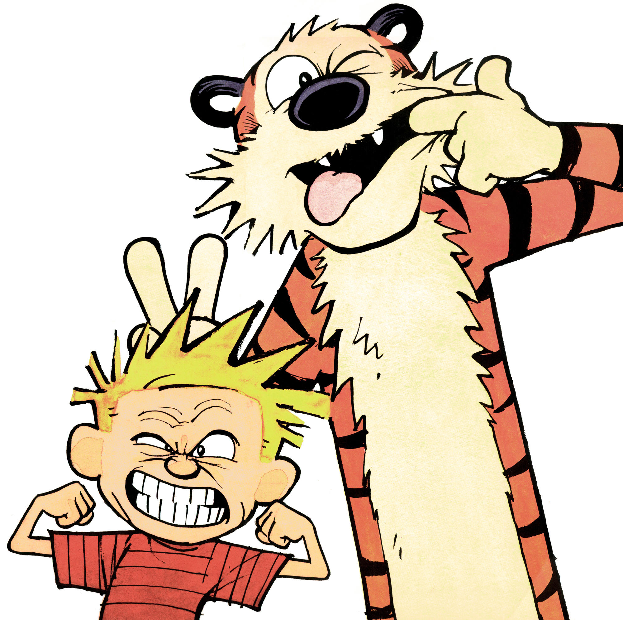 portrait calvin and hobbes know your meme rh knowyourmeme com calvin and hobbes clipart free calvin and hobbes birthday clipart