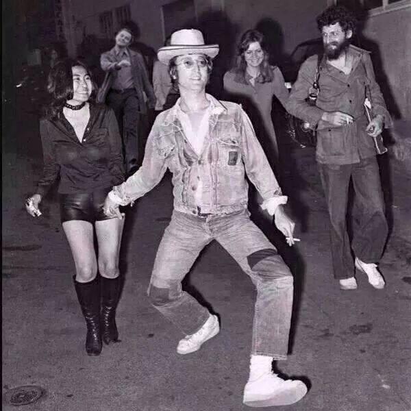 John Lennon Strutting Leo