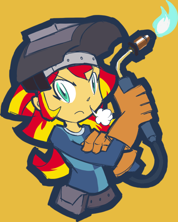 Sunset Welder By Rvceric My Little Pony Equestria Girls Know Your Meme