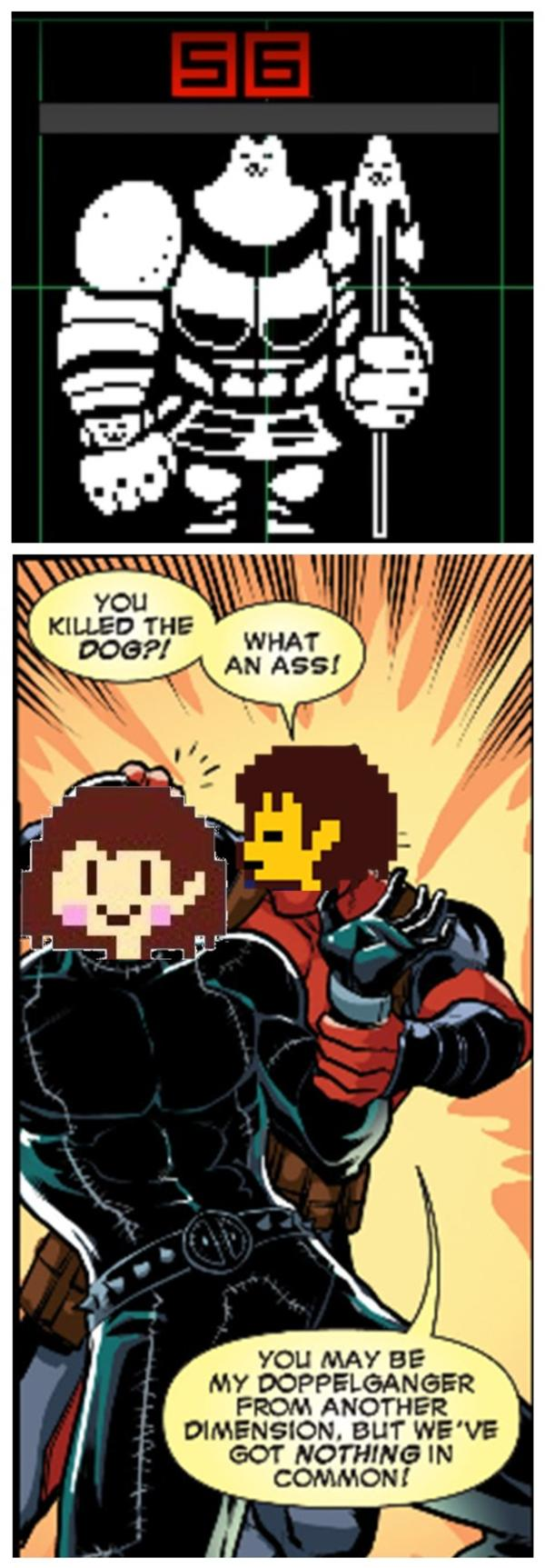 reputable site f22ac 1fc00 Deadpool Frisk doesn't approve of your genocide run | Undertale ...