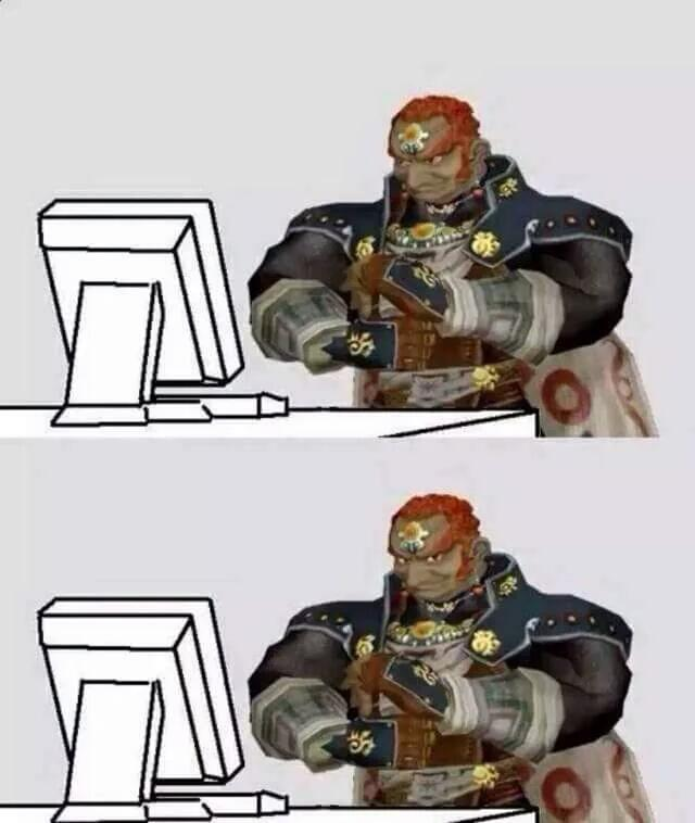 Ganon Computer Reaction Faces Know Your Meme