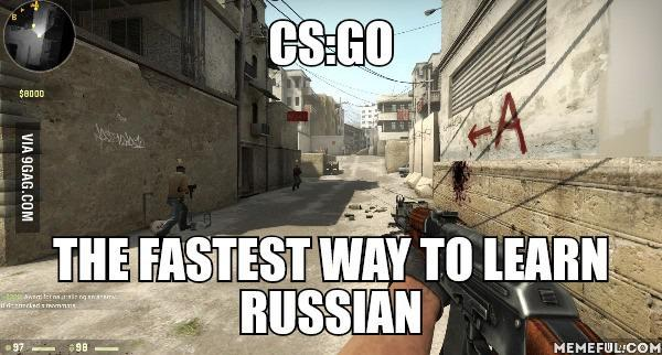 cs go the fastest way to learn russian blyat cyka blyat