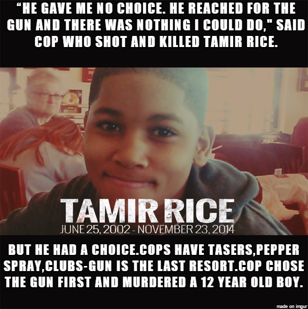 He Gave Me No Choice Tamir Rices Death Know Your Meme