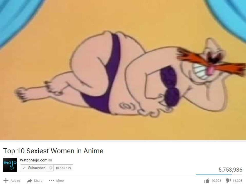 Top 10 Sexiest Women In Anime Parody Top 10 Anime List Parodies Know Your Meme