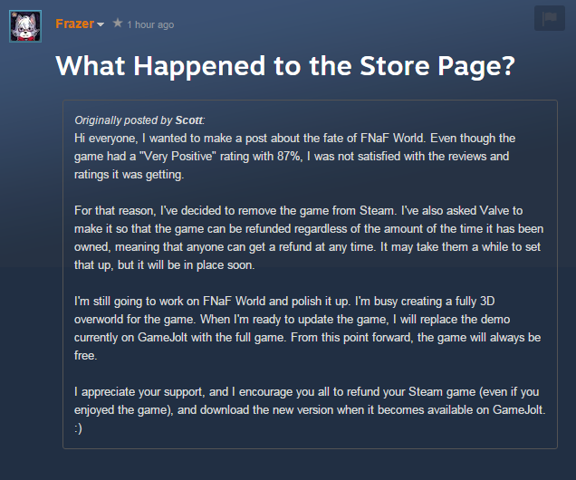 Thinking about buying FNAF World? Think again    | Five