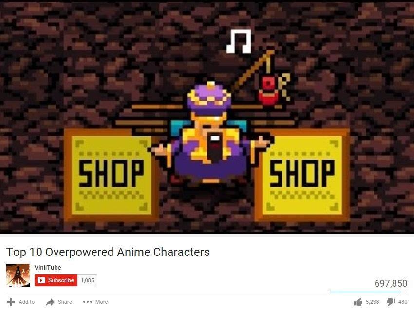 Top ten anime characters
