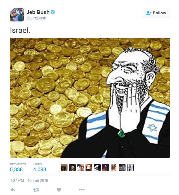 Oy Vey Vote For Jeb Jeb Bushs America Gun Tweet Know Your Meme