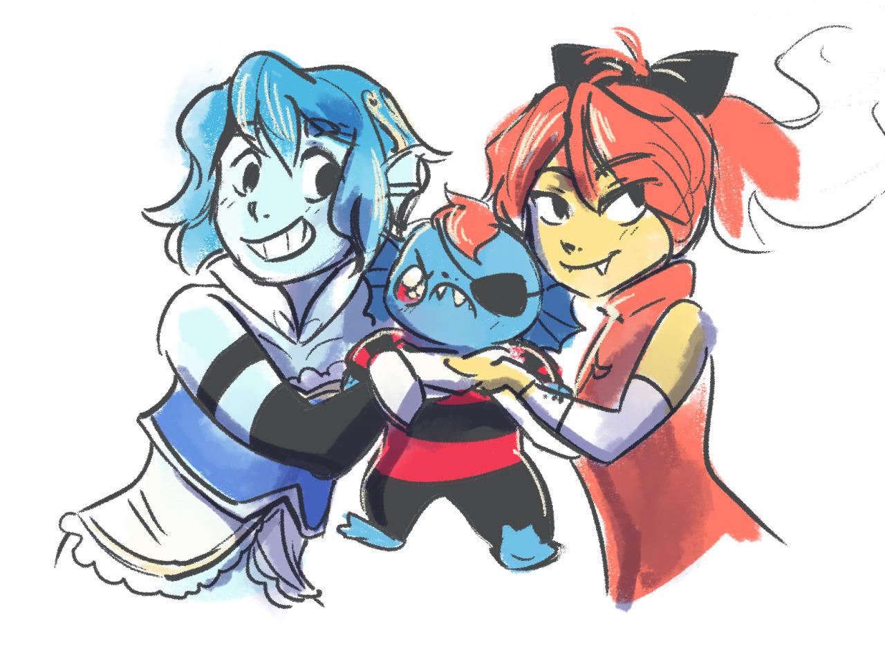 Anime Cute Lesbians magical lesbian spawn | undertale | know your meme