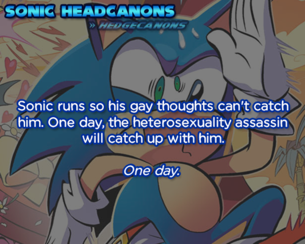 Sonic Runs So His Gay Thoughts Cant Catch Him One Day The