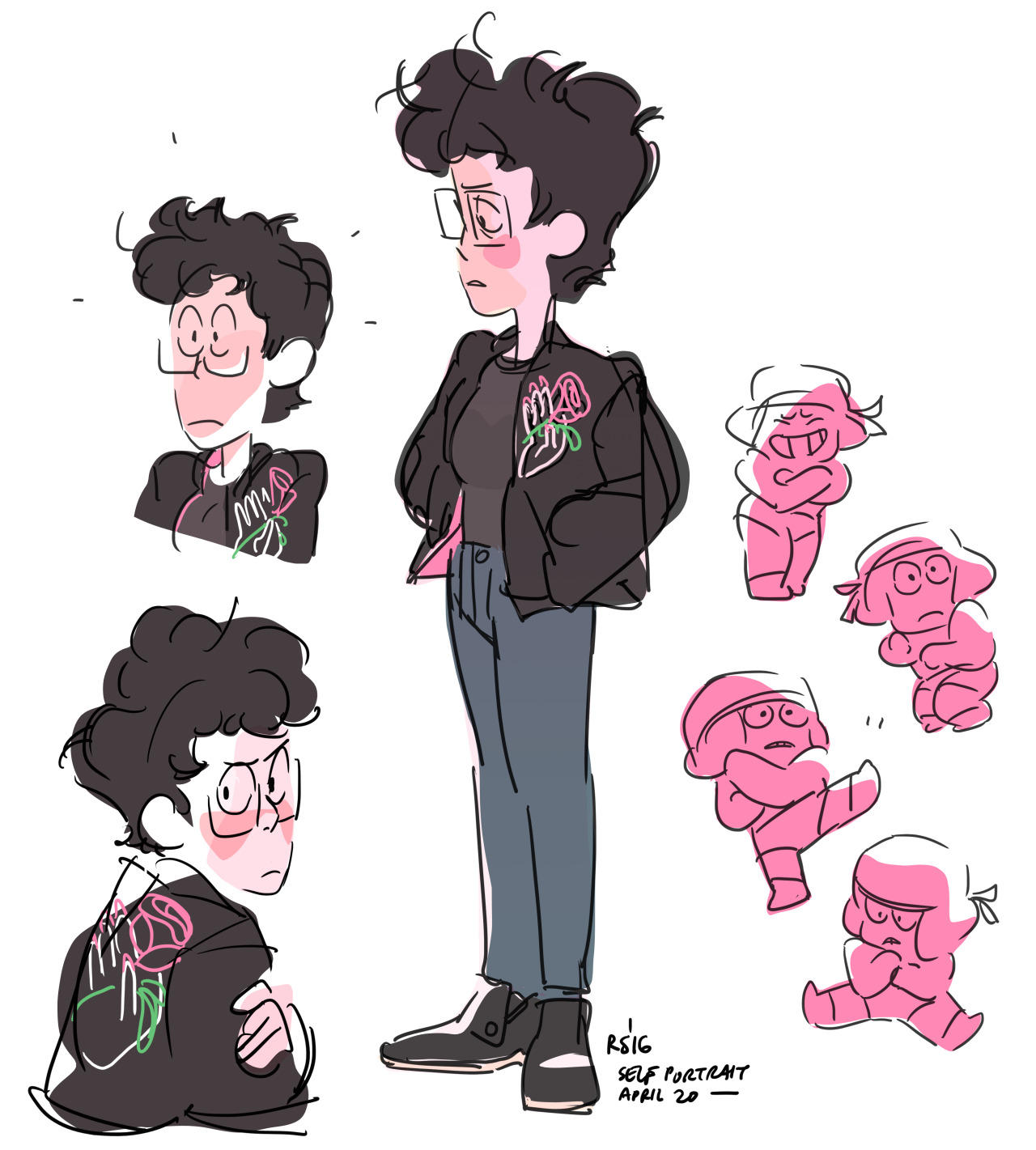 Rebecca Sugar S Recent Self Portrait With A Bunch Of Adorable Rubys Steven Universe Know Your Meme
