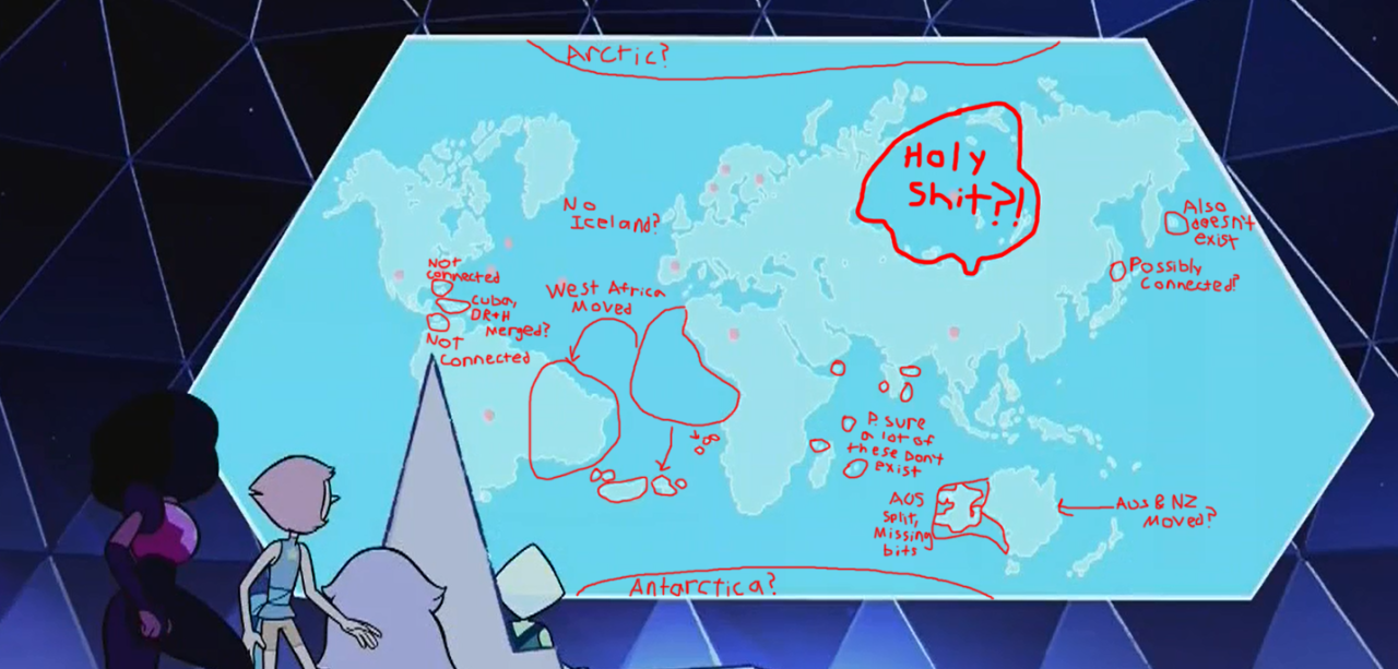 Someone S Notes On The Su Earth Map Steven Universe Know Your Meme