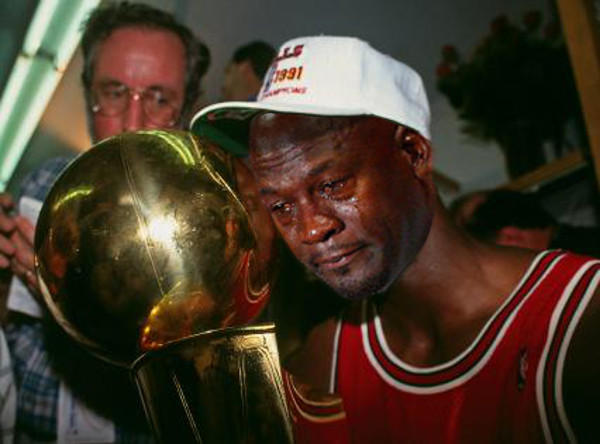 MJ With The Trophy