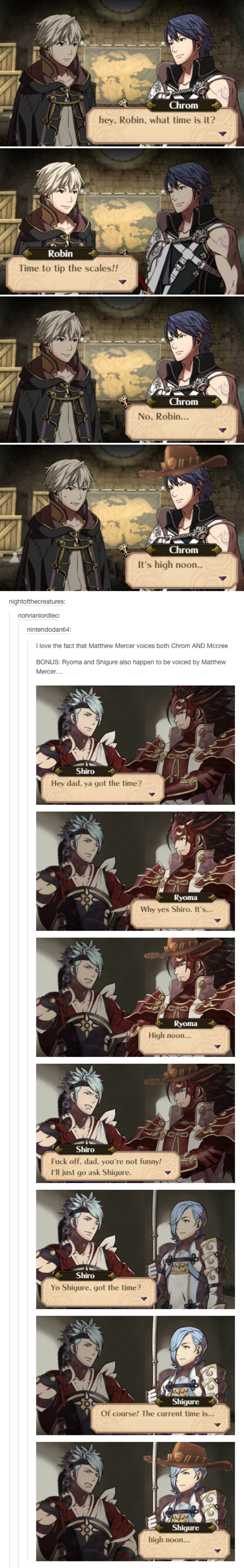 same voice actor fire emblem know your meme