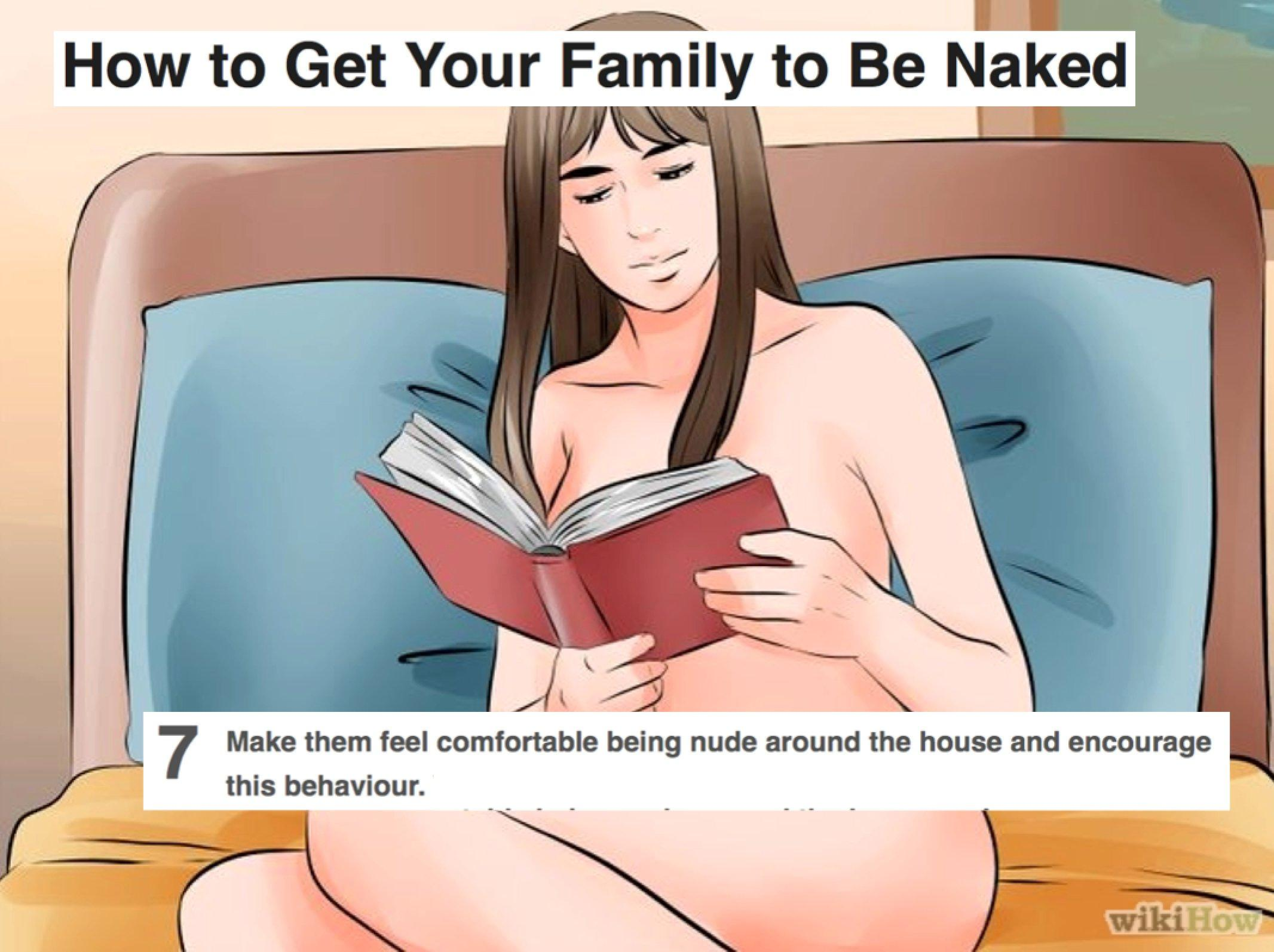 Naked family Brother saw