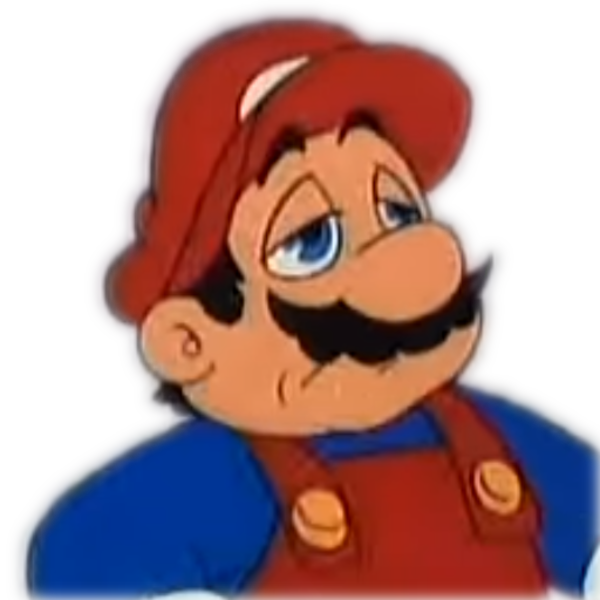 Mario decides to give up on life, but before that he dramatically zooms in  his face and disintegrates the background | Super Mario | Know Your Meme