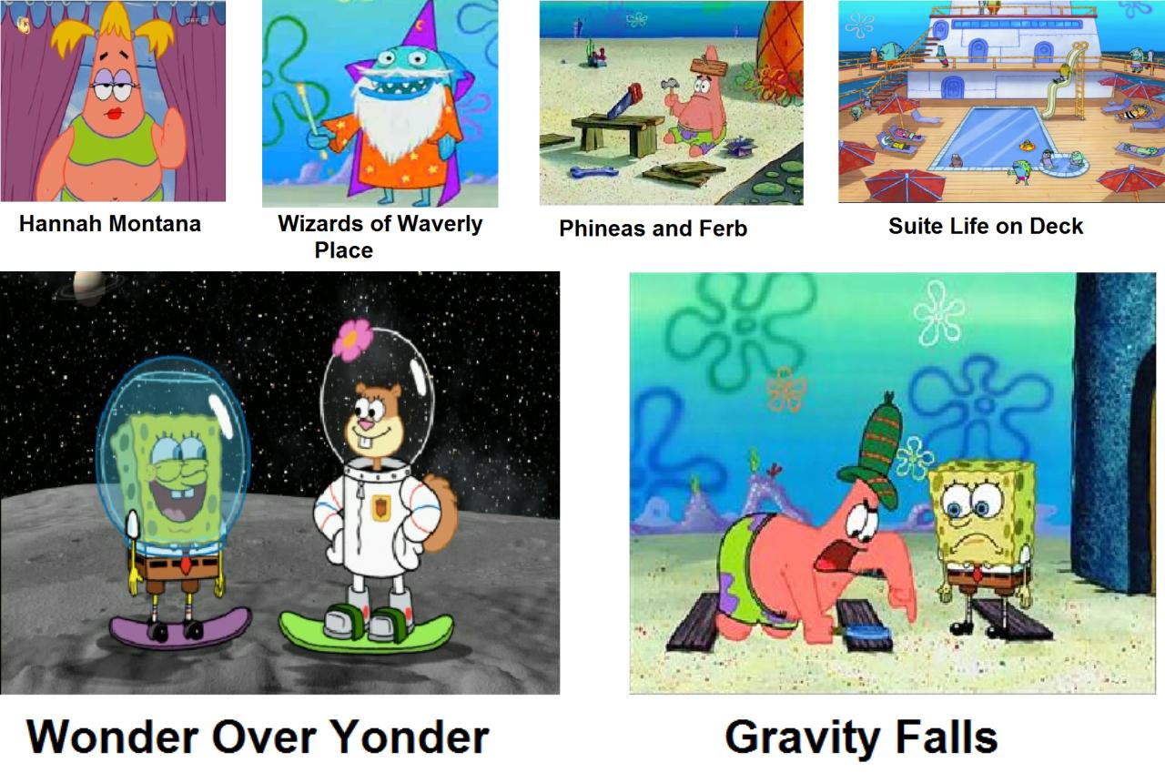 Spongebob comparison charts spongebob as disney shows