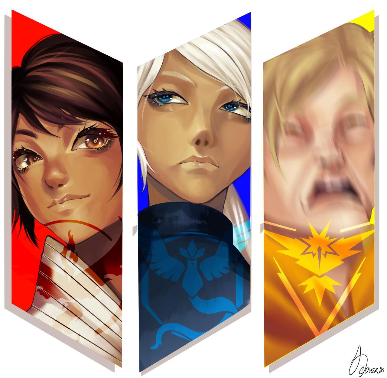 """""""team instinct is my favorite team"""" - the artist   Pokémon ..."""
