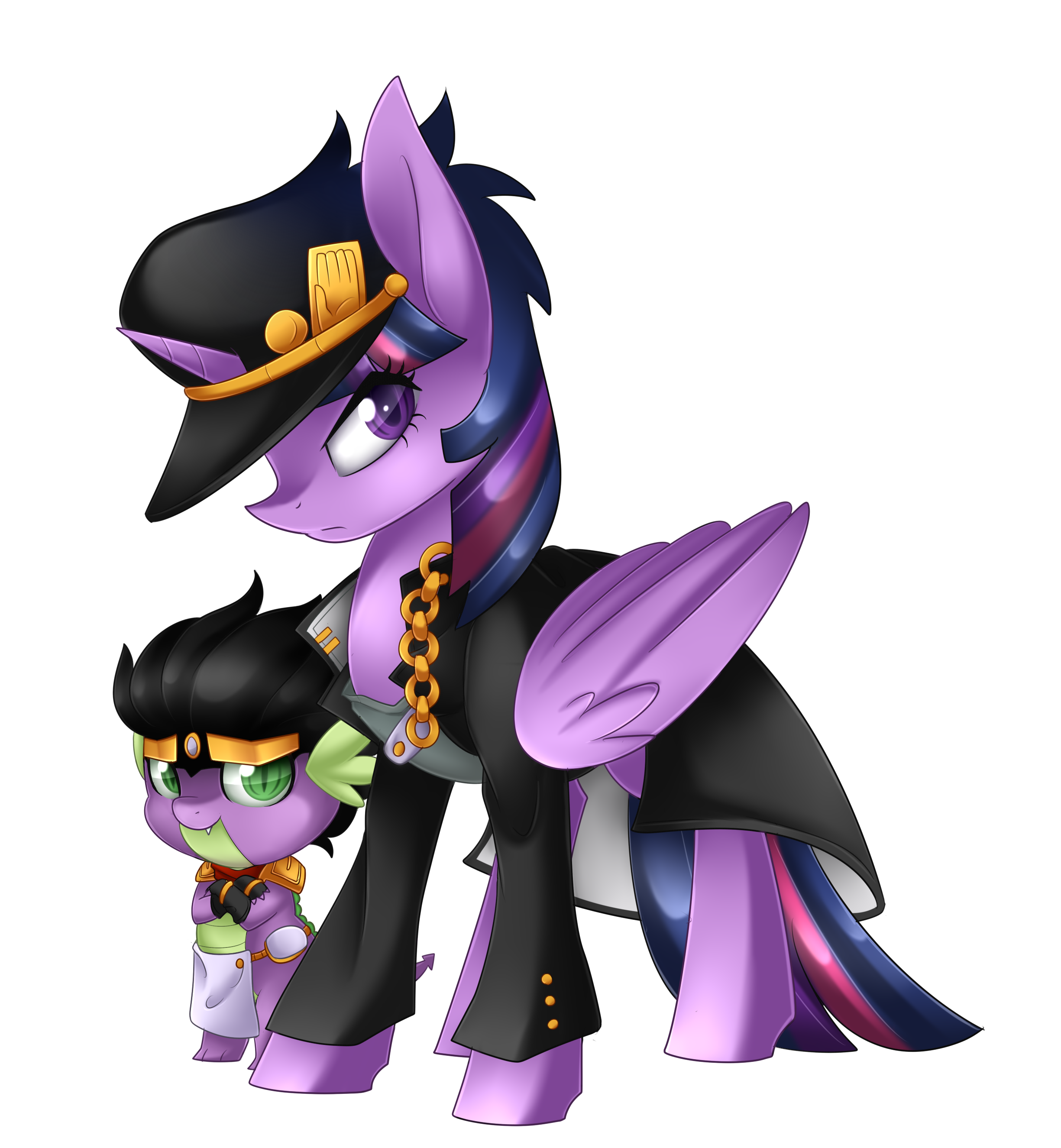 Twilight Kujo And Spike Platinum Speedpaint By Scarlet Spectrum My Little Pony Friendship Is Magic Know Your Meme