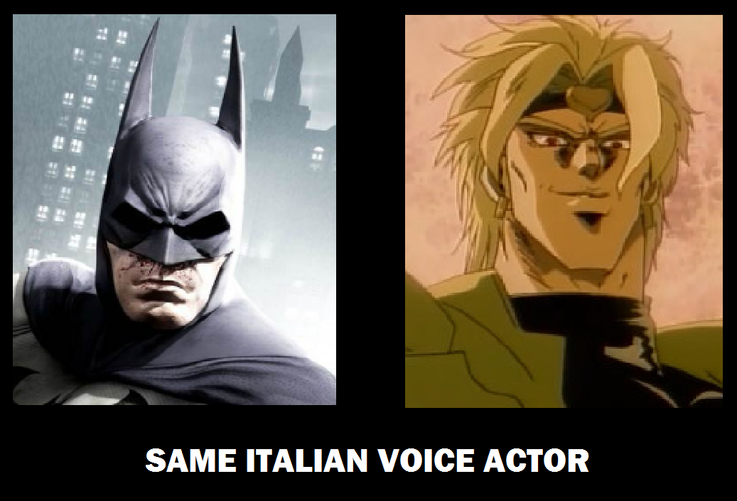 BATMAN IS DIO | Same Voice Actor | Know Your Meme