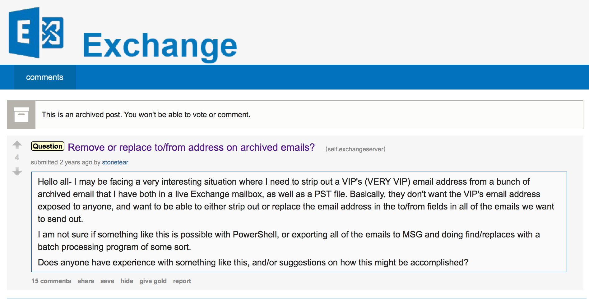 Stonetear's Reddit Post | Hillary Clinton Email Controversy