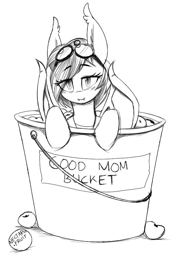 nolegs mom nectarine wynne in a good mom bucket by replica my Rarity's Mom's Name od mom rainbow dash rarity pony line art white black and white vertebrate head drawing