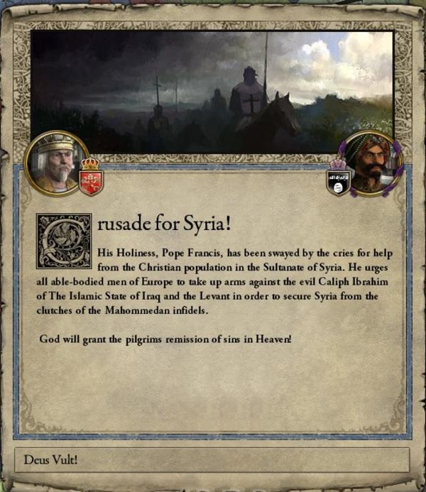 Crusader Kings II Pop-up | Deus Vult