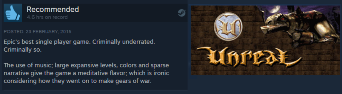 Unreal | Steam User Reviews | Know Your Meme