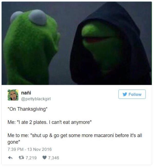 ab9 on thanksgiving evil kermit know your meme