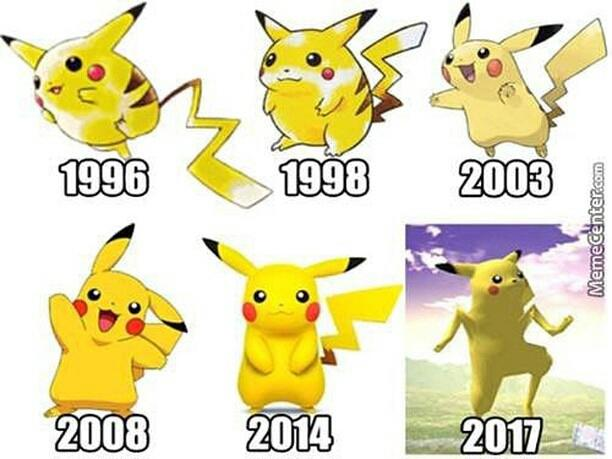 the evolution of pikachu pikaman longchu know your meme