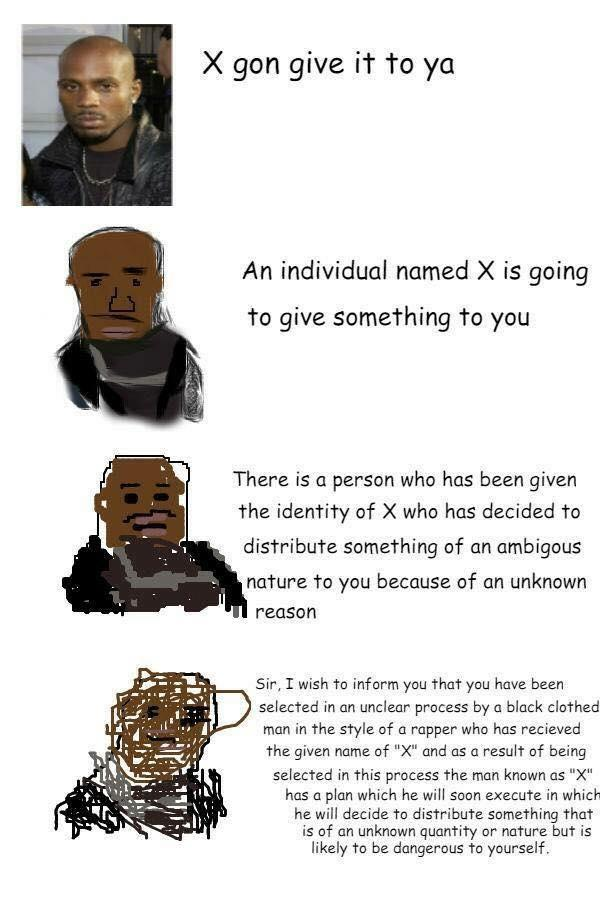 X Gon Give It To Ya Increasingly Verbose Memes Know Your Meme