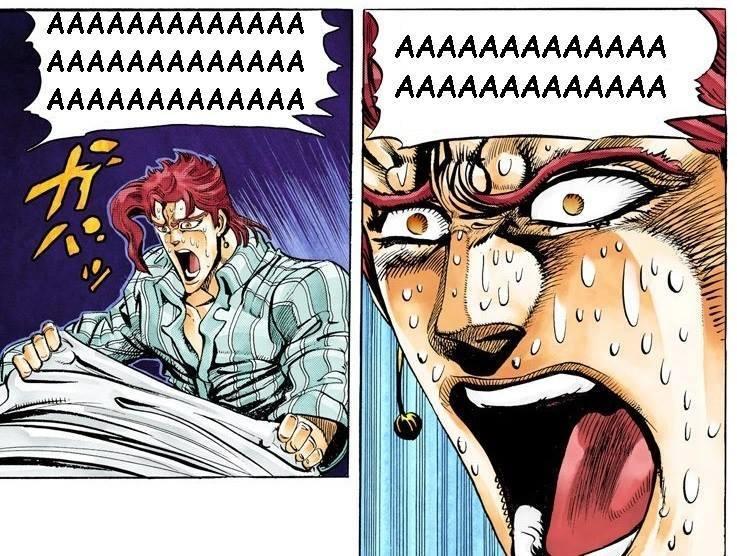 Kakyoin wakes up from a nightmare | Aaaaaaaa | Know Your Meme