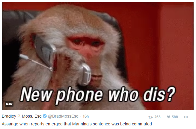 Bradley P Moss Tweet Julian Assange Know Your Meme