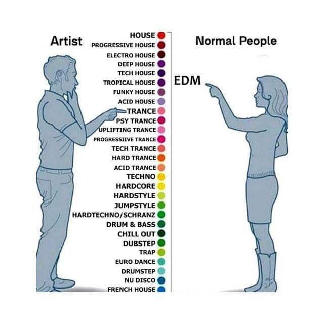EDM Artist vs  Normal People | Artist vs Normal People | Know Your Meme
