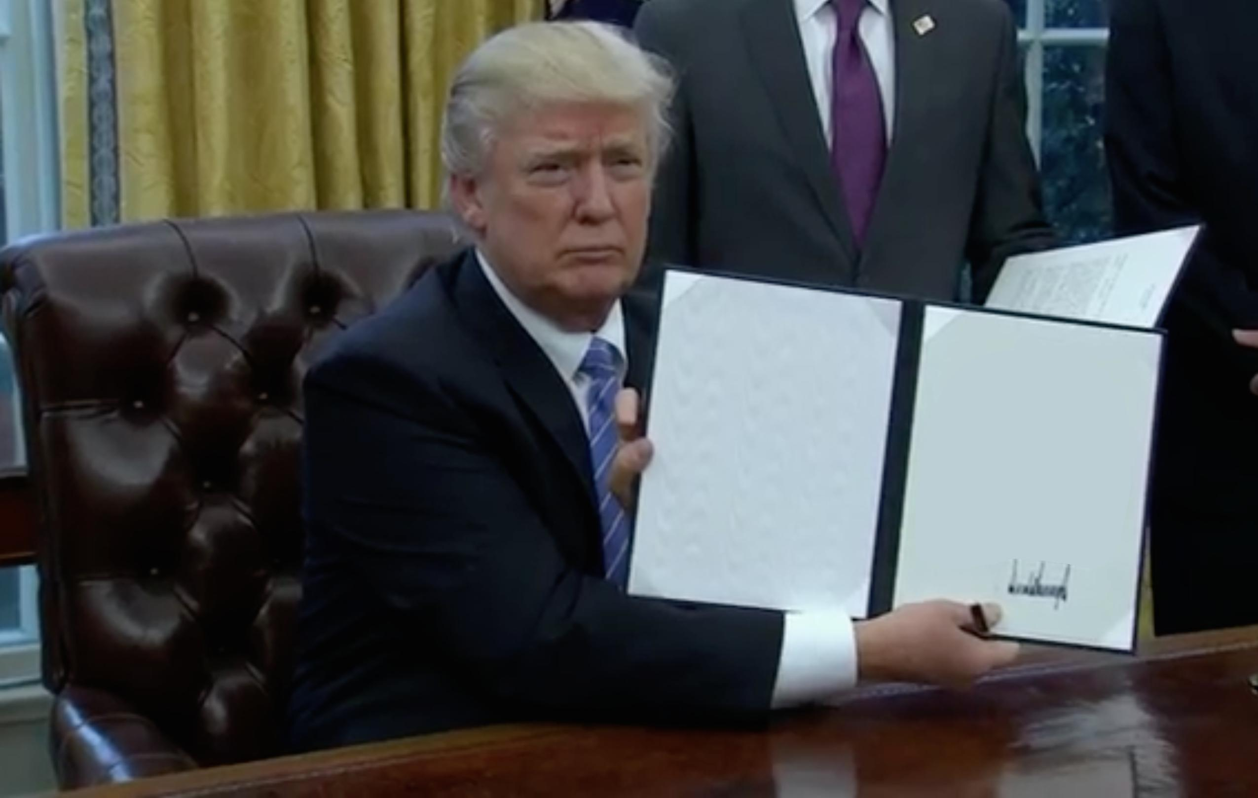 Blank Template Trump S First Order Of Business Know Your Meme