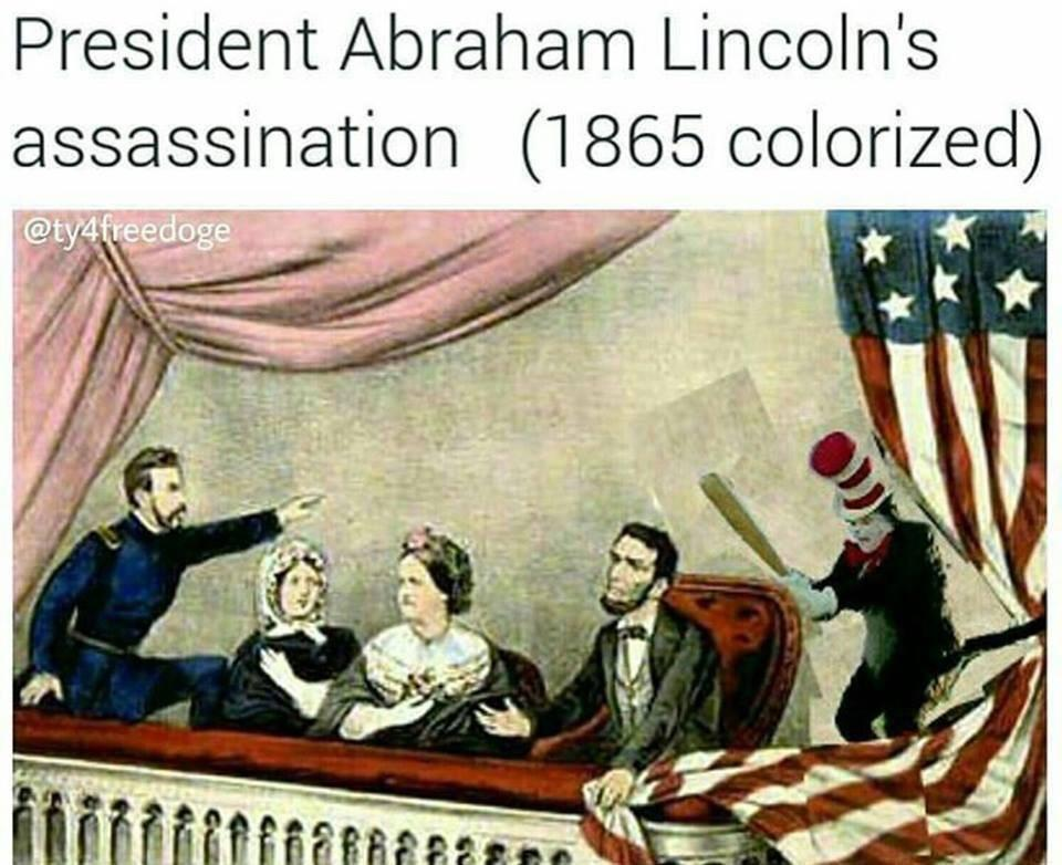President Abraham Lincolns Assassination 1865 Colorized The Cat
