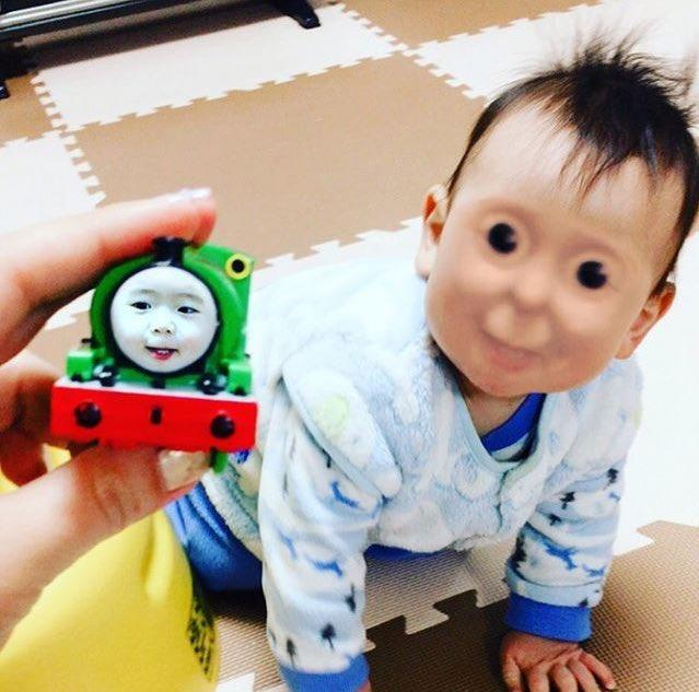 train baby face swap know your meme