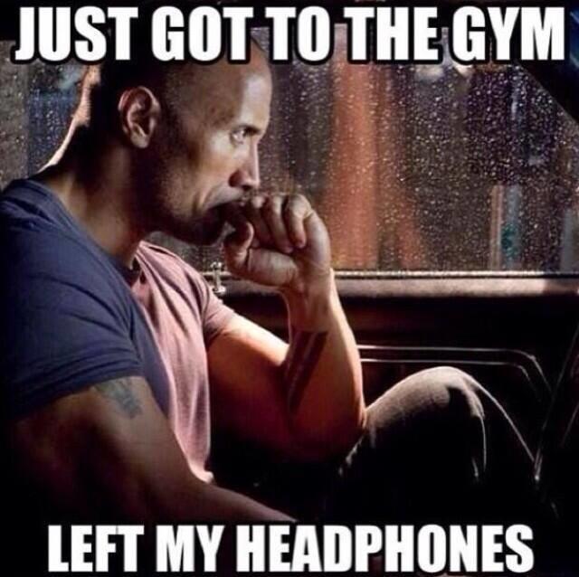 Image result for rock headphones meme