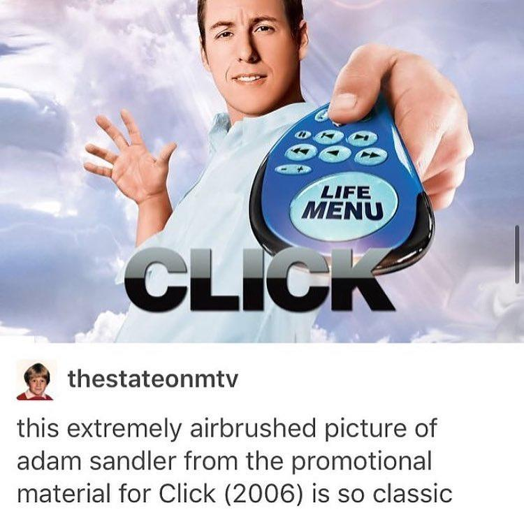 This Extremely Airbrushed Picture Of Adam Sandler Is So Classic Click Know Your Meme