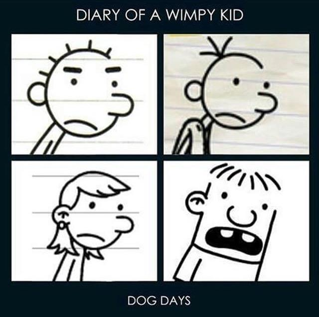 Diary Of A Wimpy Kid Dog Days Demon Days Parody Gorillaz Know Your Meme
