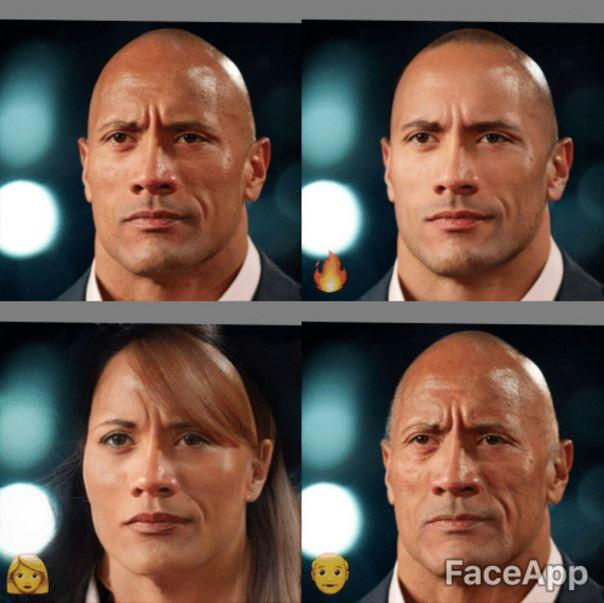 Dwayne The Rock Johnson Faceapp Know Your Meme