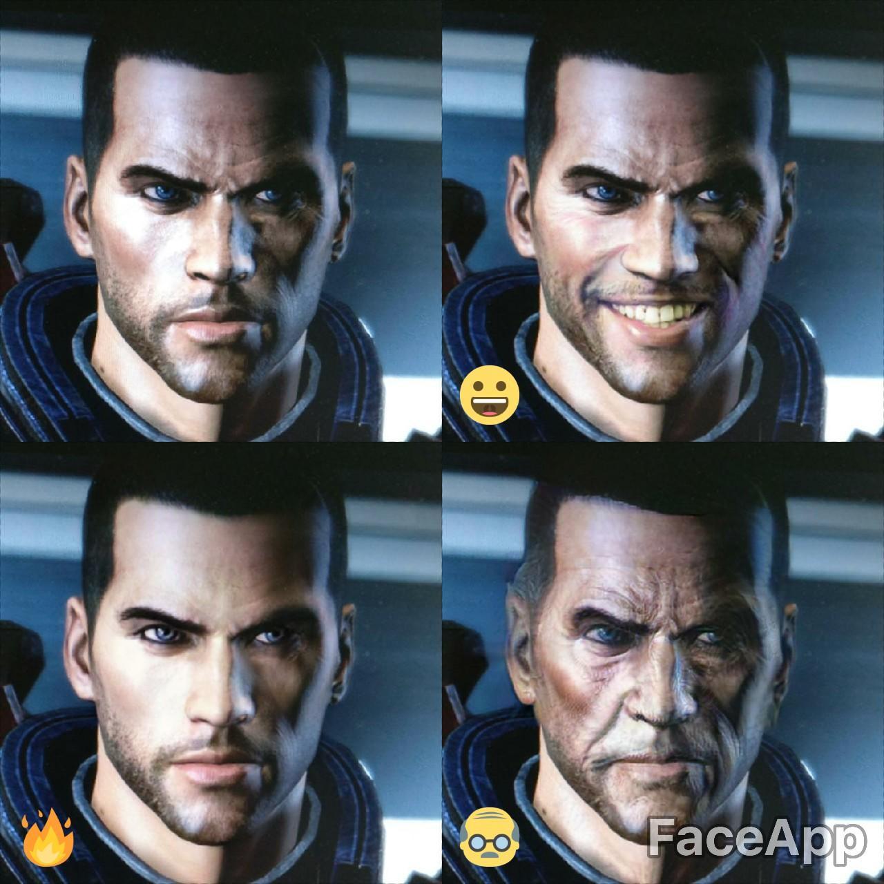 Commander Shepard Faceapp Know Your Meme