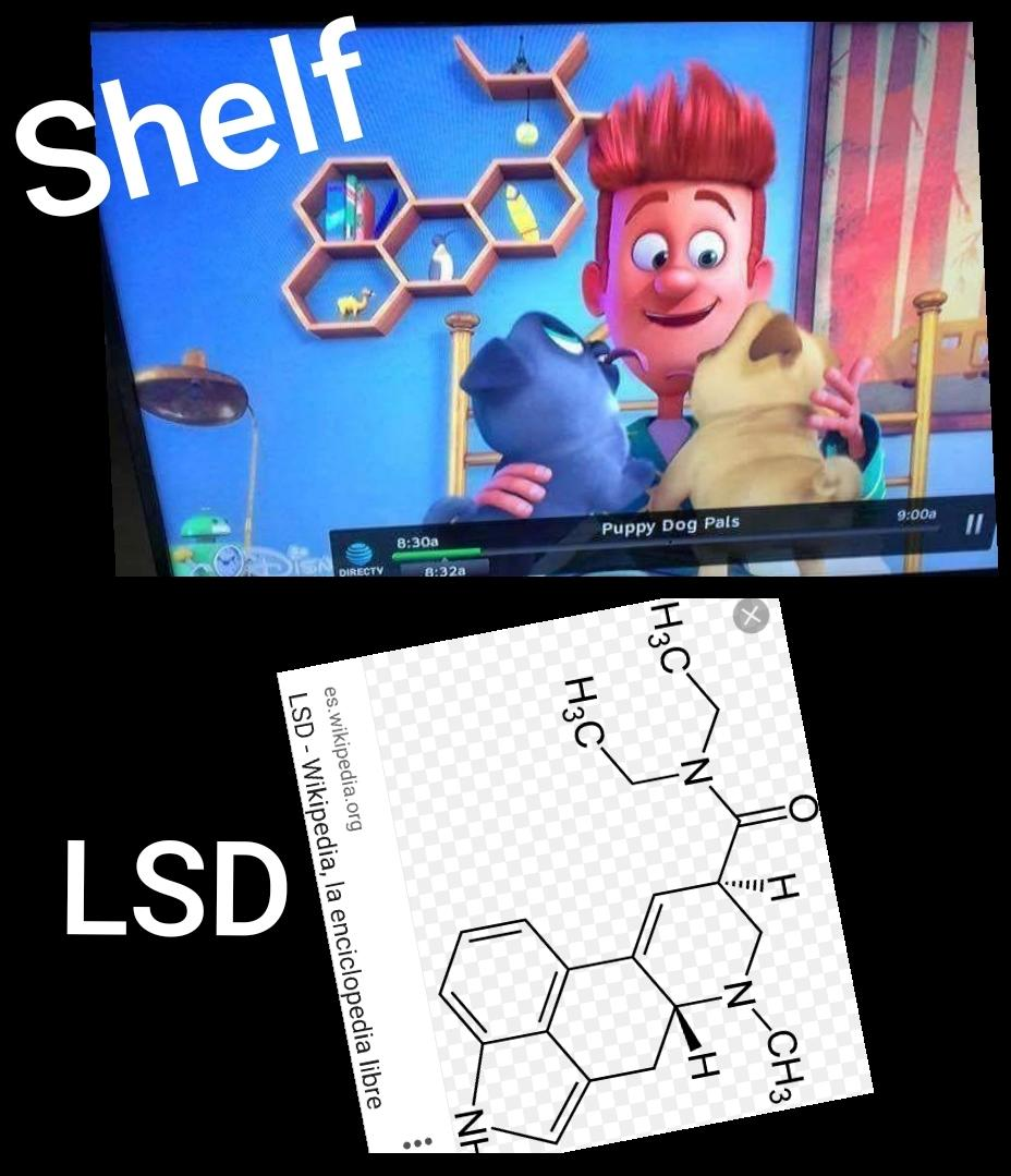 Lsd Shelf In Puppy Dog Pals Disney Know Your Meme