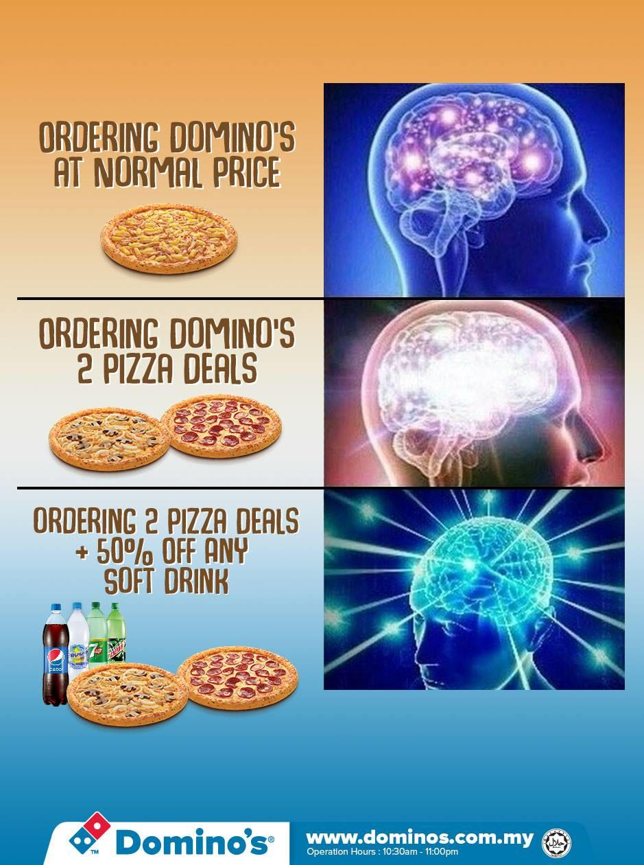 Domino S Pizza Malaysia Expanding Brain Know Your Meme