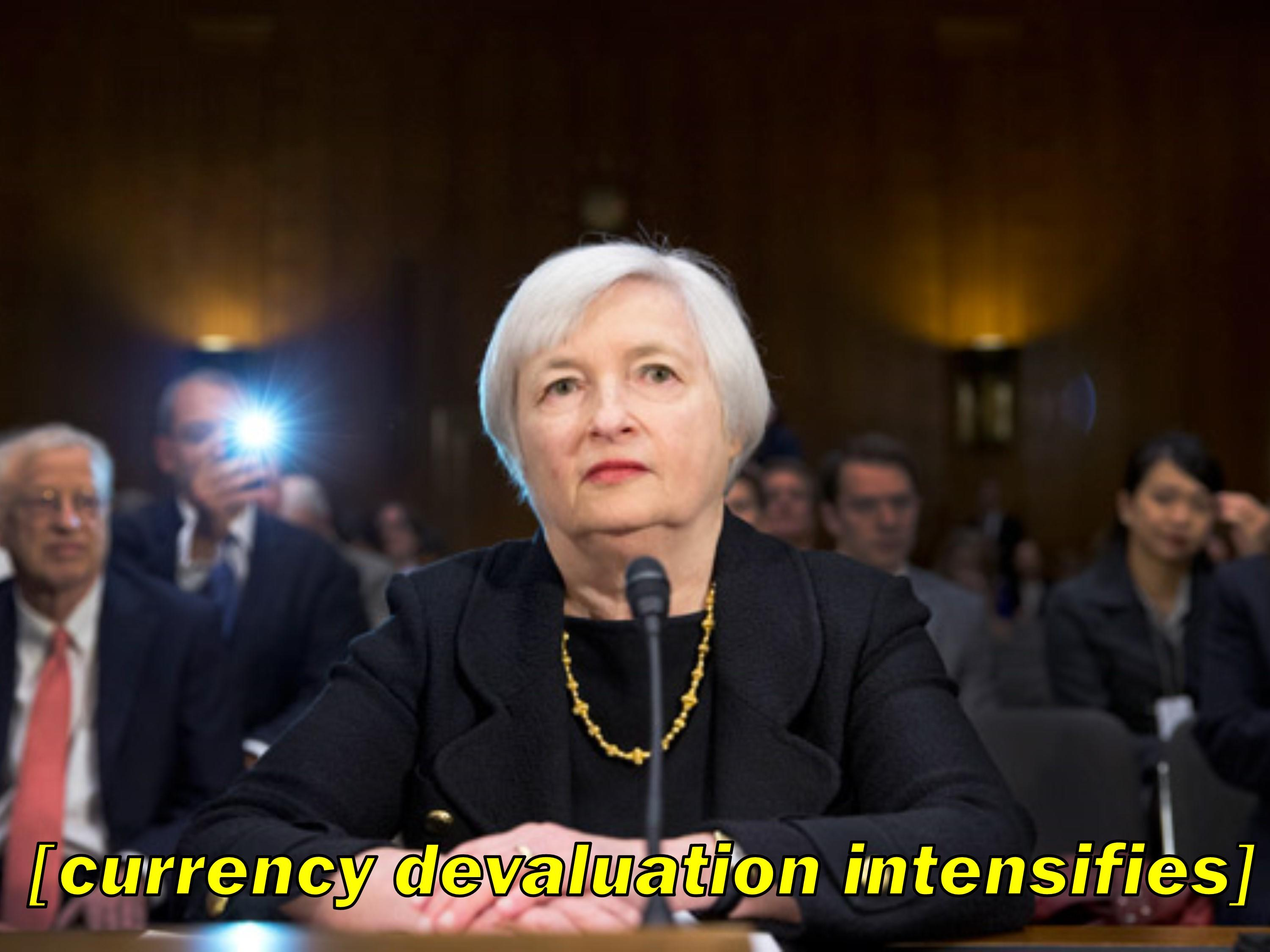 janet yellen currency devaluation intensifies intensifies know your meme janet yellen currency devaluation