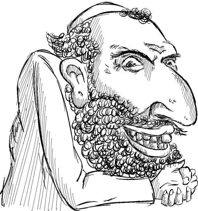 Line Drawing Happy Merchant Know Your Meme