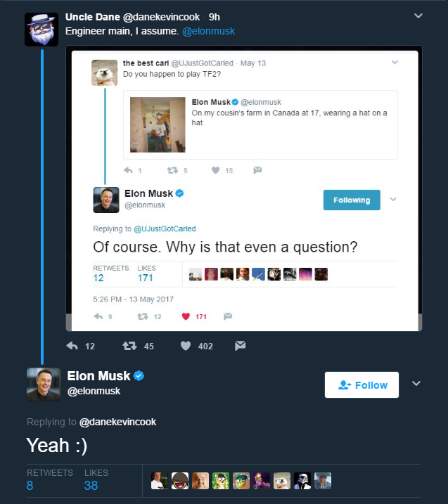 Elon Musk is a confirmed Engie main   Team Fortress 2   Know
