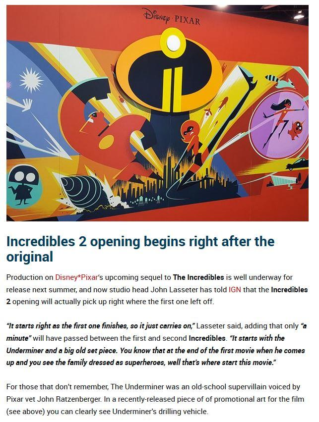 Incredibles 2 Opening Confirmed | The Incredibles | Know