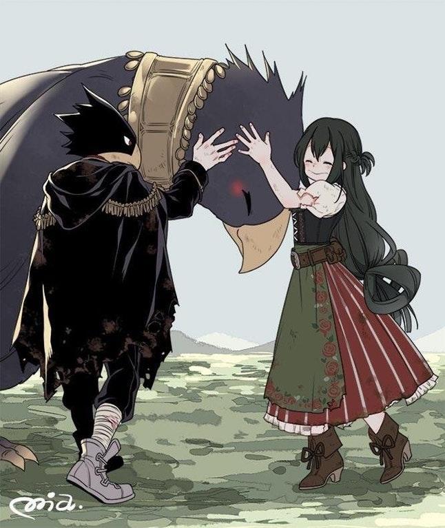 Tokoyami and Tsu in Fantasy AU | My Hero Academia | Know
