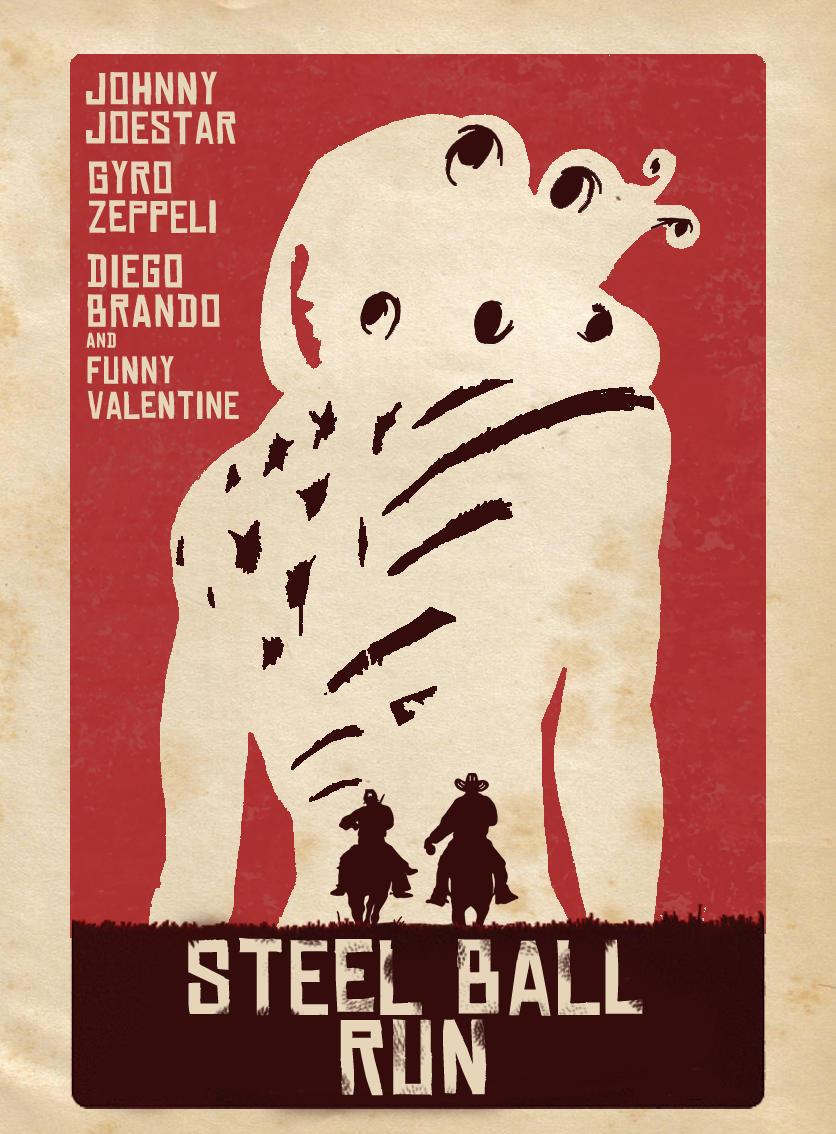 Steel Ball Run Poster Jojo S Bizarre Adventure Know Your Meme